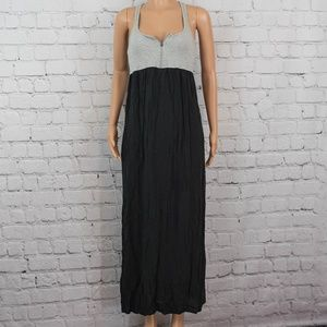 Andrew Marc black and grey maxi dress